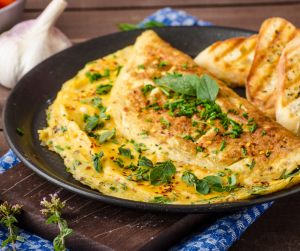 Herb Omelet with Dukkah